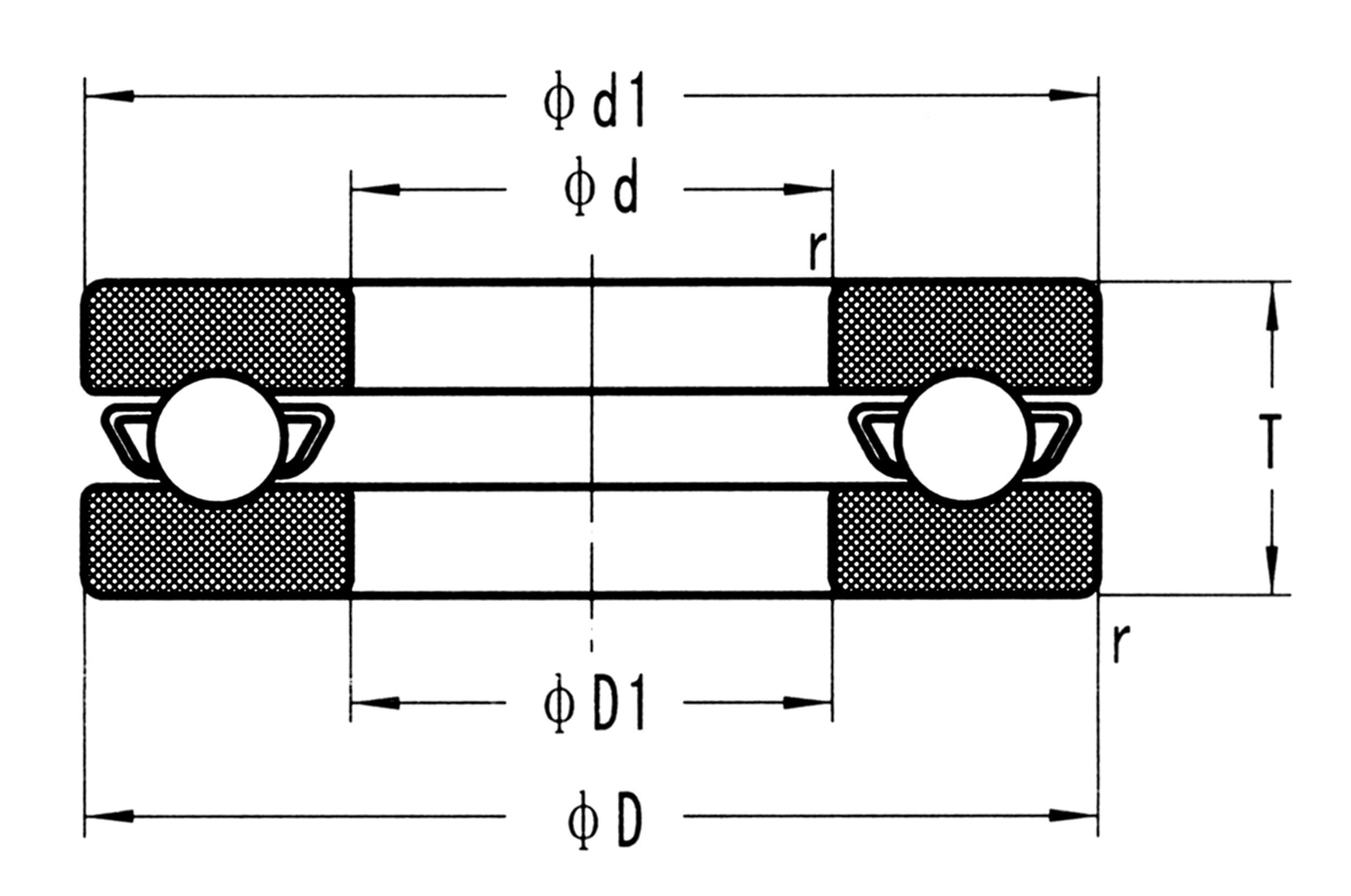 Aço inoxidável Rolamentos axiais de esferas