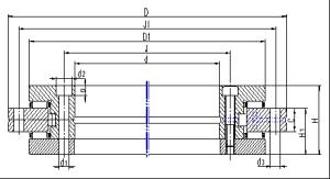 rolamento de rolos cruzada (RU Série)