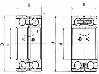Ceramic Duplo Row contato angular rolamentos de esferas